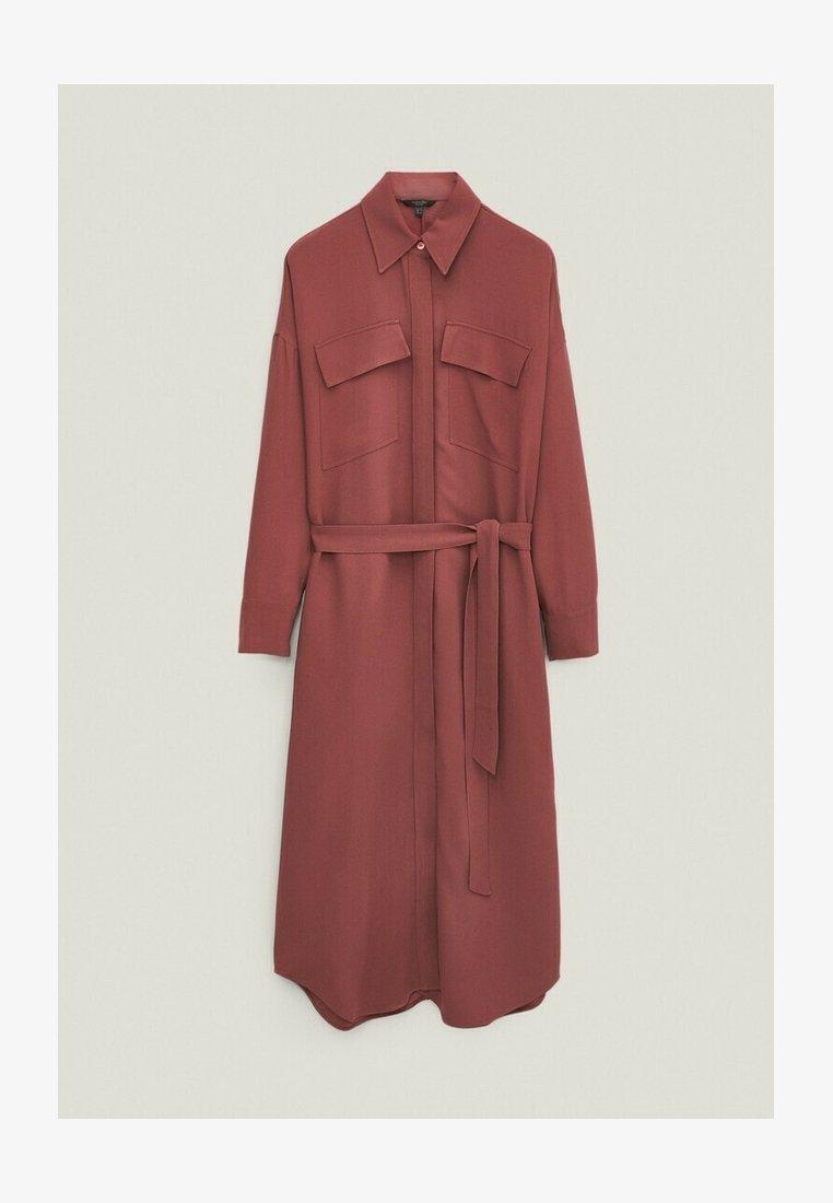 Massimo Dutti - Shirt dress - bordeaux