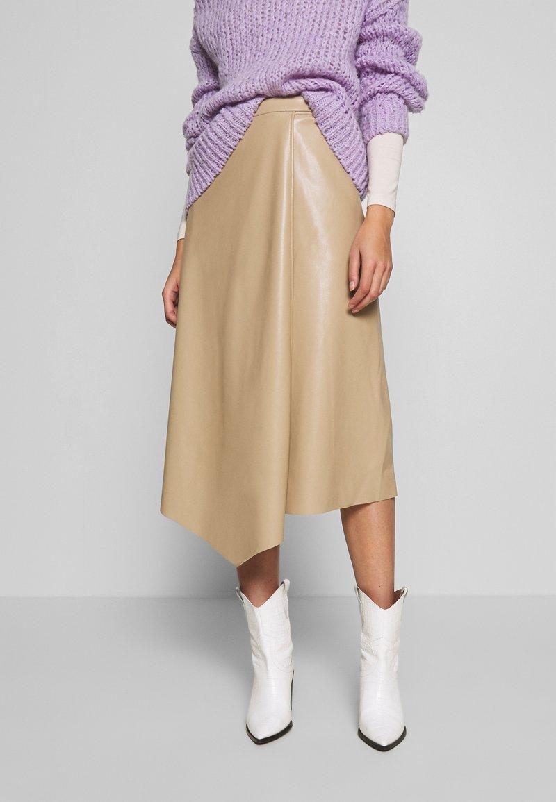 Gestuz - EVIE SKIRT - A-line skirt - safari