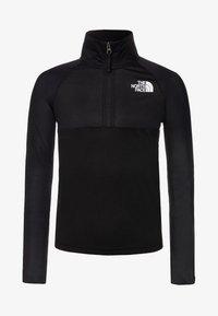 The North Face - BOY'S REACTOR 1/4 ZIP - Sportshirt - black - 0