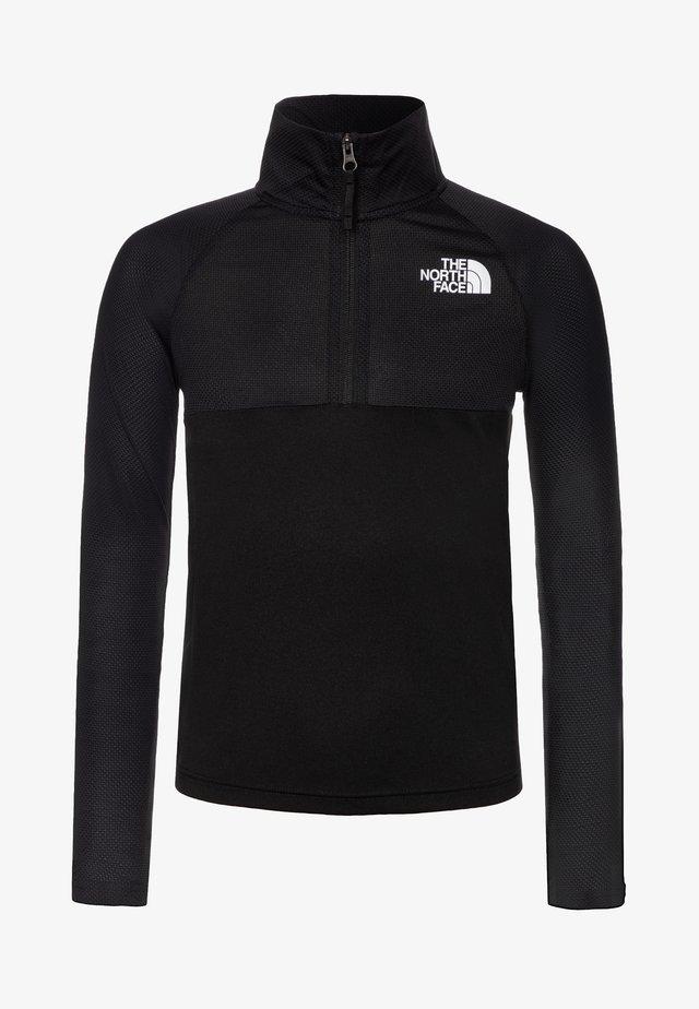 BOY'S REACTOR 1/4 ZIP - Sports shirt - black