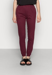 Missguided - BASIC JOGGERS 2 PACK - Tracksuit bottoms - grey/burgundy - 3