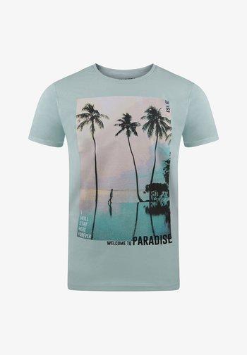 RIVLUKAS - Print T-shirt - blau palme (ajd)