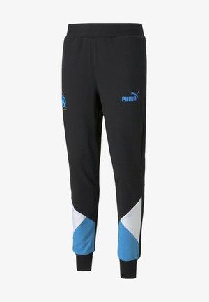 OLYMPIQUE DE MARSEILLE FTBLCULTURE TRACK PANTS - Tracksuit bottoms - puma black-bleu azur