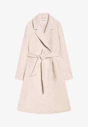 Klassischer Mantel - beige caro