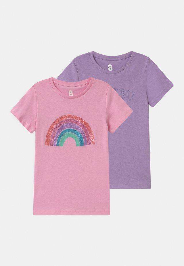 PENELOPE 2 PACK - T-shirt med print - summer violet/cali pink