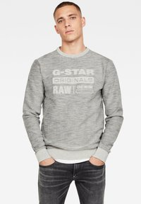 G-Star - PREMIUM CORE LOGO ROUND LONG SLEEVE - Trui - cool grey - 0