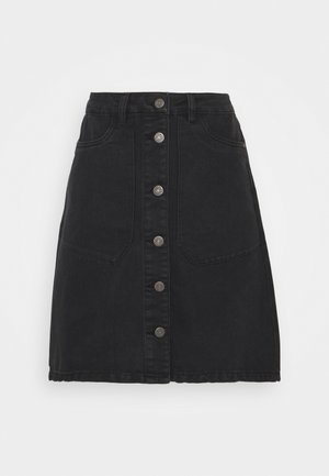 NMSUNNY SHORT SKIRT - Miniskjørt - black denim