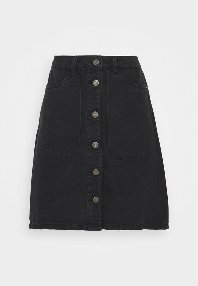 NMSUNNY SHORT SKIRT - Mini skirt - black denim