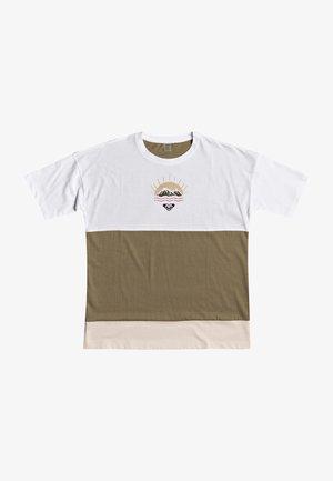 JOY TEES - Print T-shirt - bright white