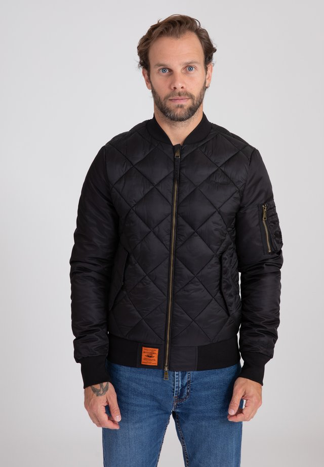 HUNTSMAN - Bomber Jacket - black