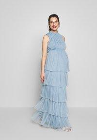 Anaya with love Maternity - HIGH NECK MAXI DRESS WITH TIERED SKIRT - Vestito estivo - cornflower blue - 1