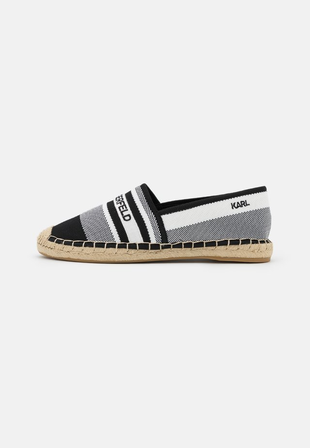 KAMINI - Loafers - white/black