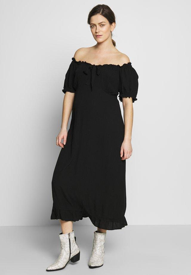 MATERNITY MILKMAID CRINKLE DRESS - Jerseykleid - black