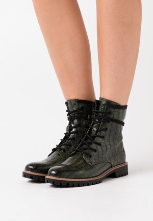 Bottines à lacets - green