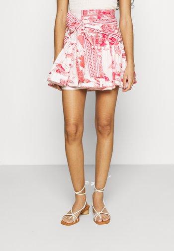 NOSSA LINGUA MINI SKIRT - Mini skirt - multi