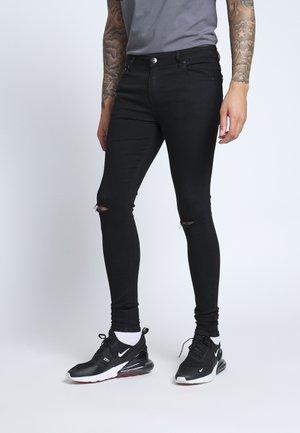 SPRAY ON RIPPED - Jeans Skinny - black