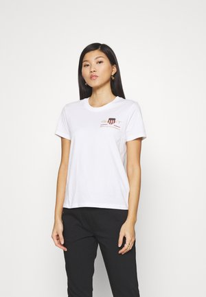 ARCHIVE SHIELD  - T-shirt imprimé - white