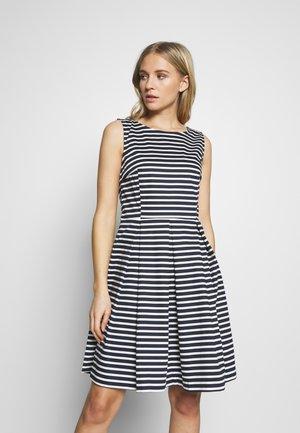 DRESS FESTIVE FEMININE - Day dress - navy/offwhite