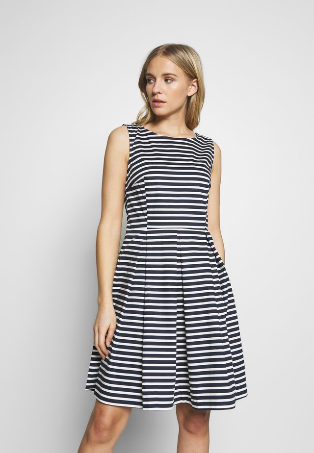DRESS FESTIVE FEMININE - Day dress - navy/offwhite