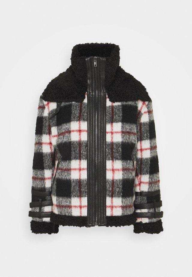 LESTER - Light jacket - black/white