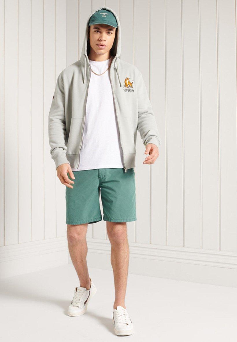 Men Zip-up sweatshirt - grey