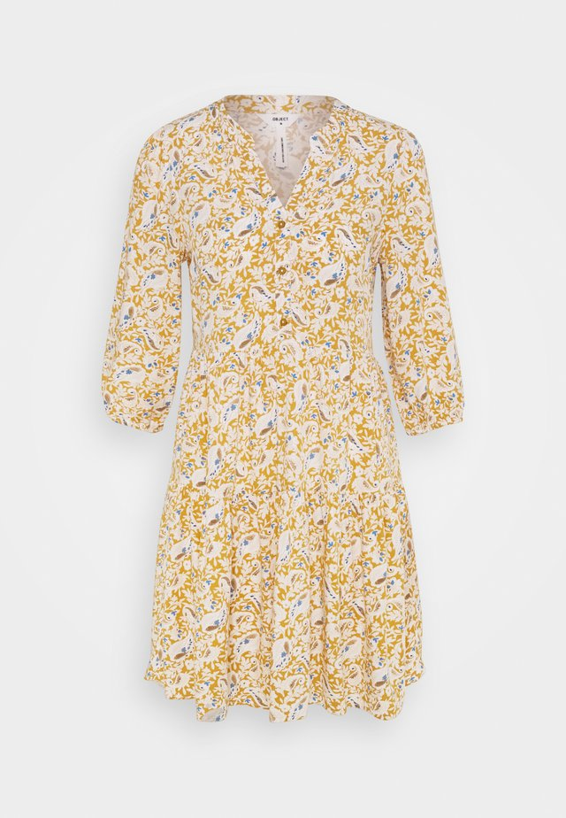 OBJMARIE ALBA DRESS  - Korte jurk - honey mustard