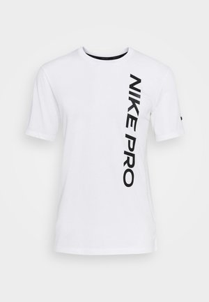 BURNOUT - T-Shirt print - white/black