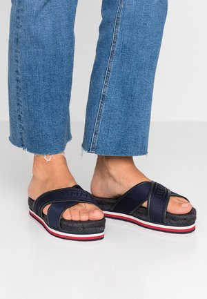 COLORFUL FLAT - Mules - blue