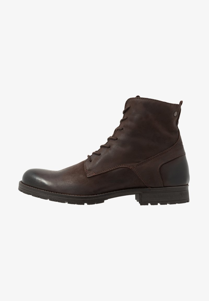 Jack & Jones - JFWORCA  - Lace-up ankle boots - brown stone
