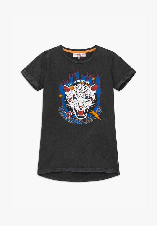 HILYA - Print T-shirt - black