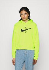Nike Sportswear - HOODIE - Hoodie - volt/black - 0