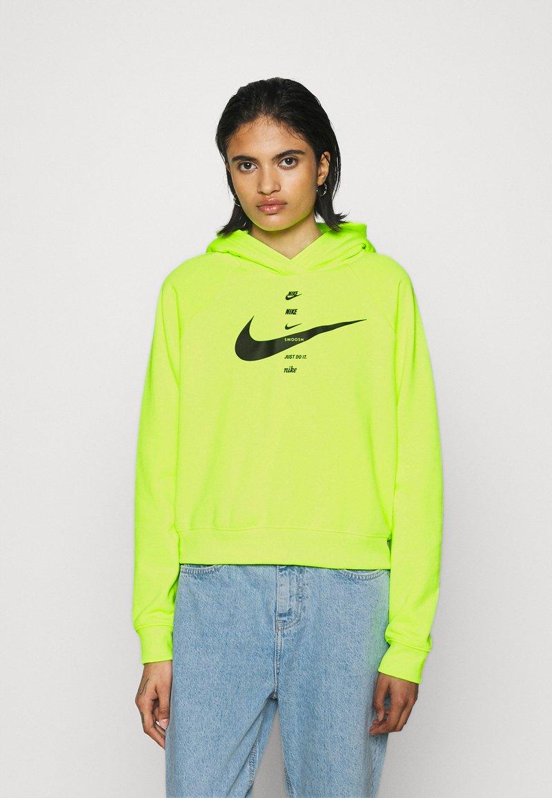 Nike Sportswear - HOODIE - Hoodie - volt/black