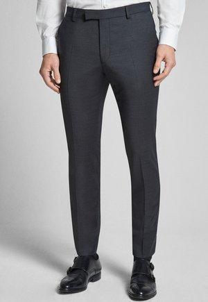 GUN - Pantaloni eleganti - mottled black-gray