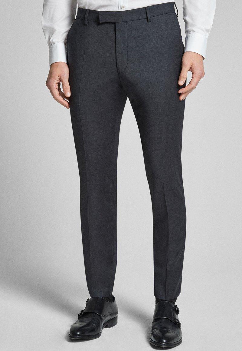 JOOP! - GUN - Pantaloni eleganti - mottled black-gray