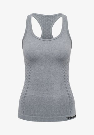 SEAMLESS - Sports shirt - grey melange