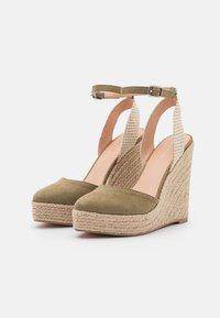 Even&Odd - Platform sandals - khaki - 2