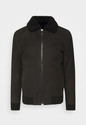 BURGALESE  - Leather jacket - suede black