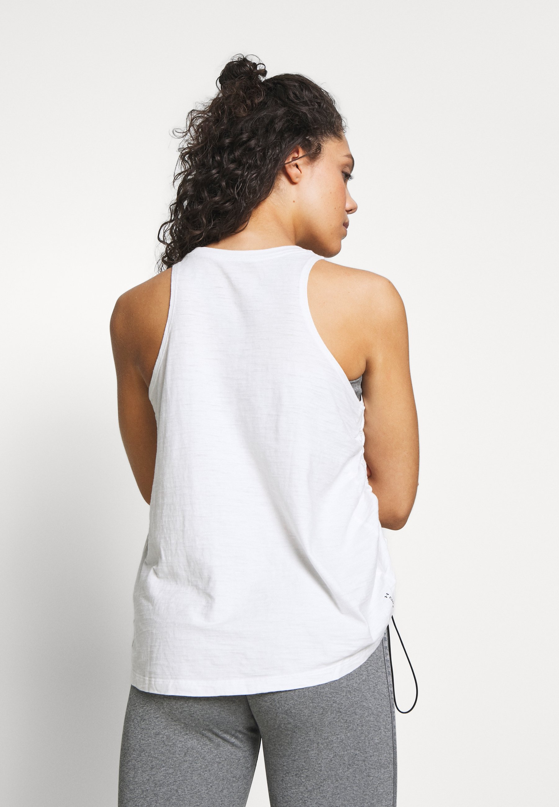 Under Armour CHARGED TANK - Sports shirt - onyx white/black mD9PK