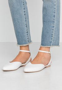 Anna Field - LEATHER  - Slingback ballet pumps - white - 0