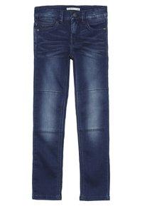 Name it - NKMTHEO PANT - Straight leg jeans - dark blue denim - 0