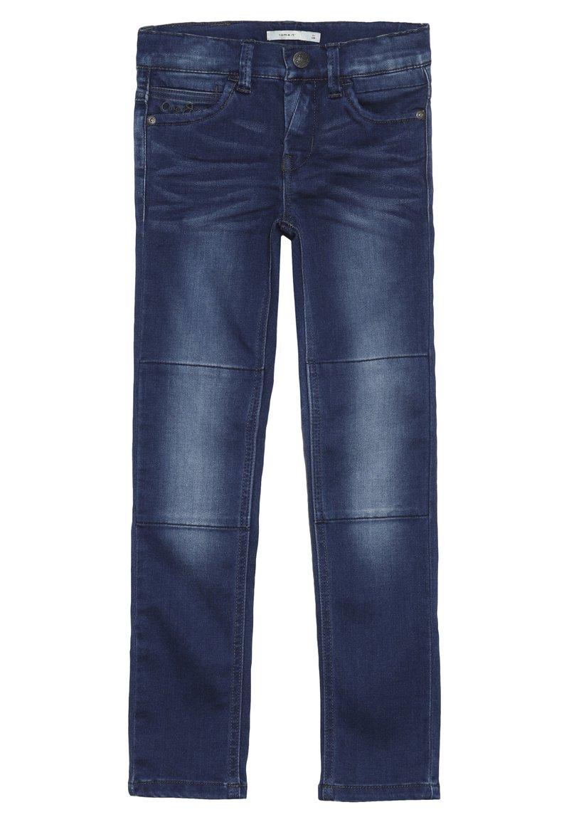 Name it - NKMTHEO PANT - Straight leg jeans - dark blue denim