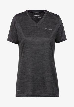 BAYNA MIT QUICK DRY TECHNOLOGIE - Print T-shirt -  black