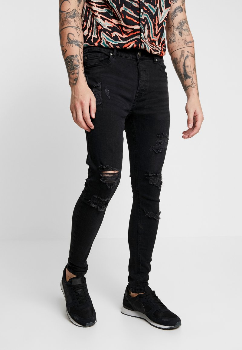 Brave Soul - LEYL AND CHARC - Jeans Skinny Fit - charcoal