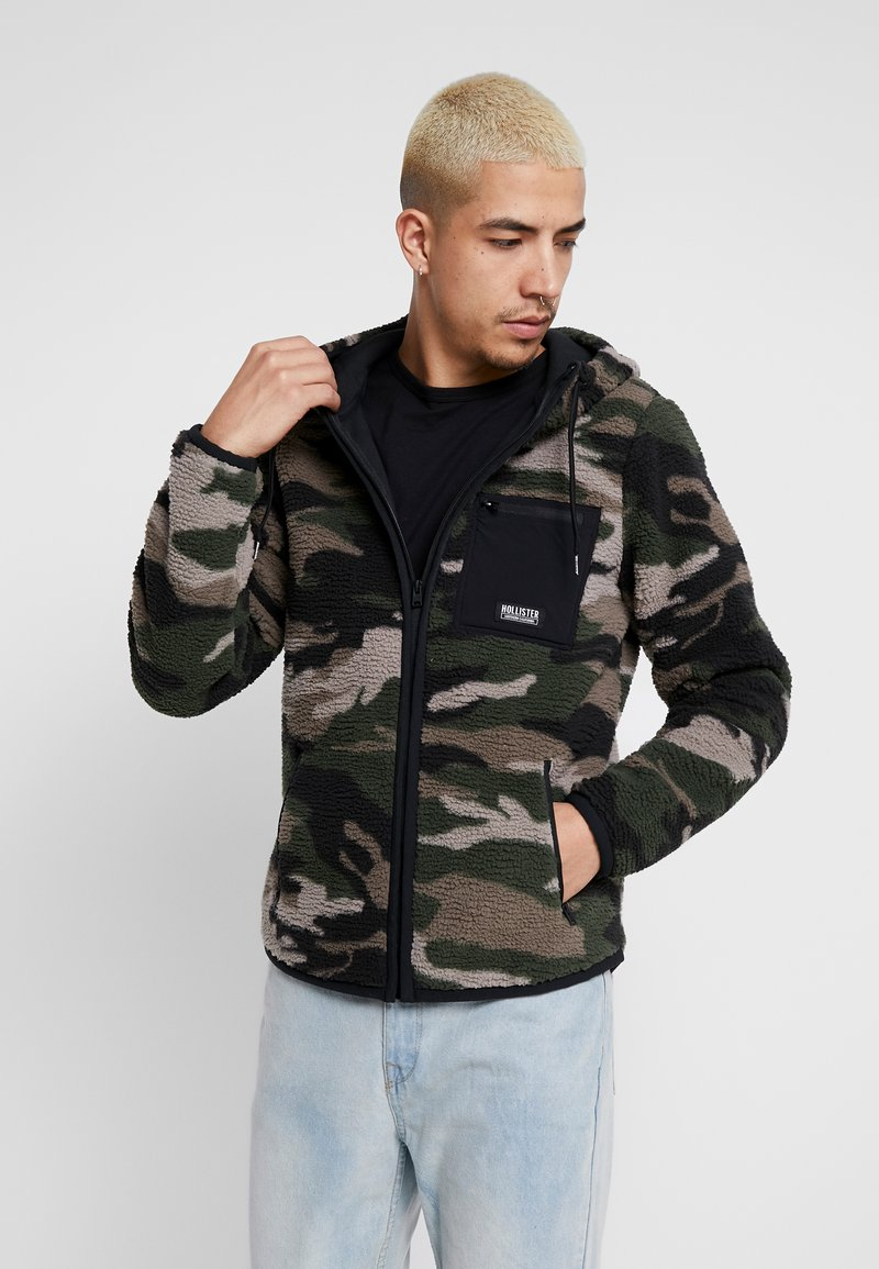 Hollister Co. - EXTERIOR SHERPA  - Fleecová bunda - green camo