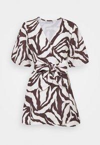 Faithfull the brand - GODIVA WRAP DRESS - Denní šaty - brown - 0