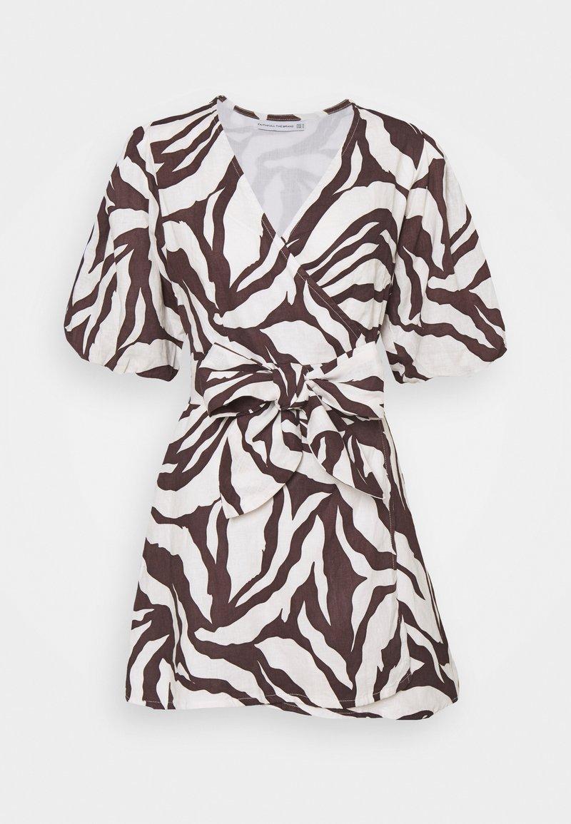 Faithfull the brand - GODIVA WRAP DRESS - Denní šaty - brown