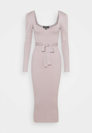 SWEETHEART BELTED MIDAXI DRESS - Vestido de punto - lilac