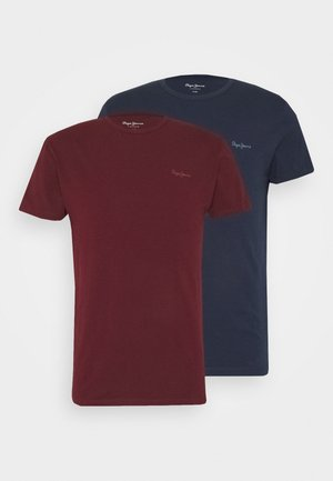 ORIGINAL 2 PACK - Basic T-shirt - navy/bordeaux