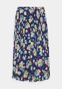 Lauren Ralph Lauren - DRAPEY SKIRT - A-line skirt - blue/multi - 4