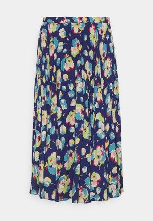 DRAPEY SKIRT - A-line skirt - blue/multi